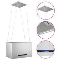 vidaXL Afzuigkap hangend met aanraaksensor LCD 55 cm roestvrij staal