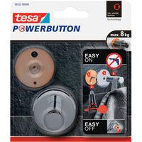 1x Tesa Powerbutton chroom ronde haak large - Klusbenodigdheden -