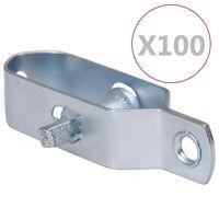 vidaXL Draadspanners 100 st 100 mm staal zilverkleurig