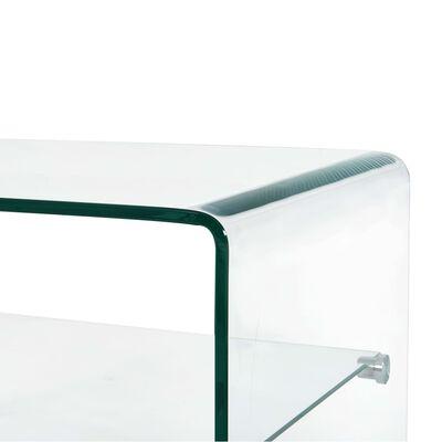 vidaXL Salontafel 50x45x33 cm gehard glas transparant