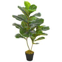 vidaXL Kunstplant met pot vioolbladplant 90 cm groen