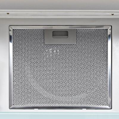 vidaXL Wandafzuigkap 756 m³/u 90 cm roestvrij staal wit