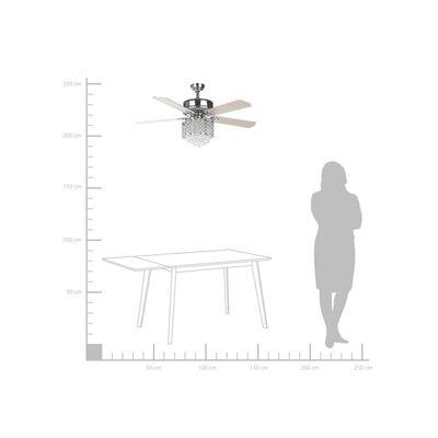 Beliani Huai - Plafondventilator - - Metaal