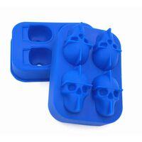 Ijsvorm Skull Siliconen Blauw