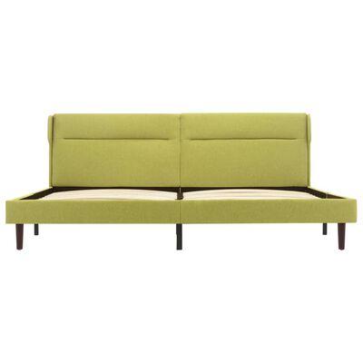 vidaXL Bedframe stof groen 140x200 cm