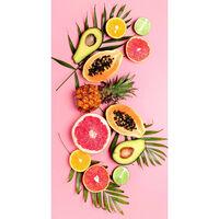 Good Morning Strandlaken PINK FRUITS 75x150 cm roze