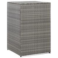 vidaXL Containerberging enkel 76x78x120 cm poly rattan antraciet