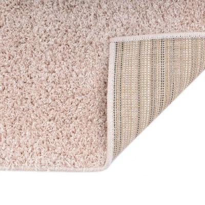 vidaXL Vloerkleed shaggy hoogpolig 160x230 cm oudroze