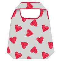 Moses Shopper opvouwbare boodschappentas diamanten hart 10 L