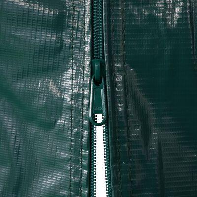 vidaXL Garagetent 2,4x3,6 m PVC groen