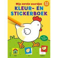 Mijn Eerste Woordjes Kleur En Stickerboek 3-5 J