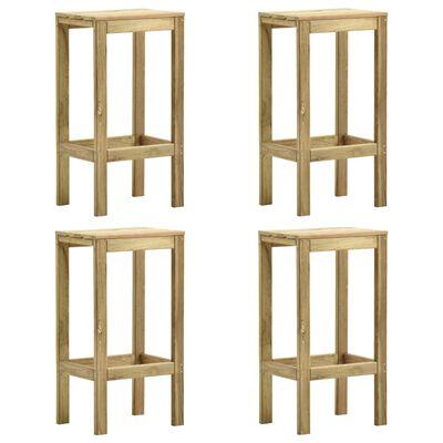 vidaXL Barkrukken 4 st geïmpregneerd grenenhout