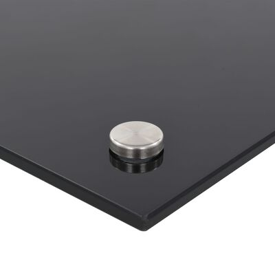 vidaXL Spatscherm keuken 90x60 cm gehard glas zwart