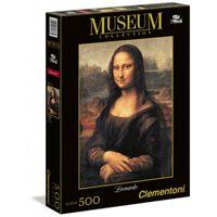 Clementoni legpuzzel Museum Collection - Mona Lisa 500 stukjes