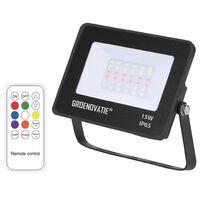 Groenovatie LED Breedstraler 15W Waterdicht IP65 RGB