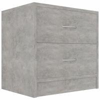 vidaXL Nachtkastje 40x30x40 cm spaanplaat betongrijs