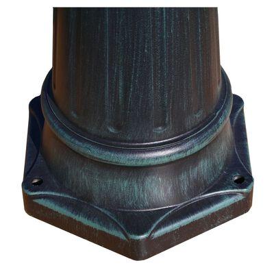 vidaXL Tuinlantaarn met 3 armen 215 cm aluminium donkergroen/zwart