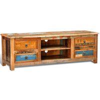 vidaXL Tv-meubel met 4 lades gerecycled hout