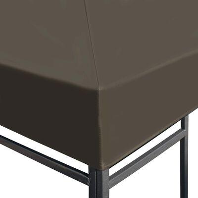 vidaXL Prieeldak 310 g/m² 3x4 m taupe