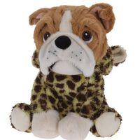 Tender Toys pluchen hondenknuffel met girafjas 20 cm bruin