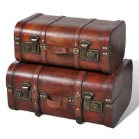 vidaXL Schatkisten 2 st vintage-stijl hout bruin