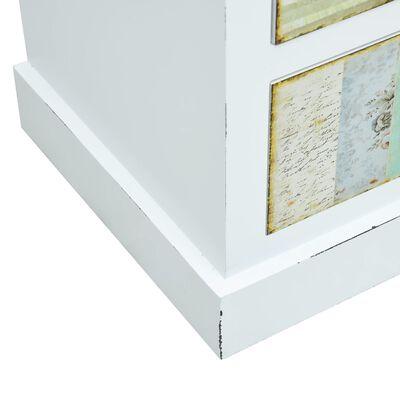 vidaXL Tv-meubel met lades 120x30x40 cm MDF wit