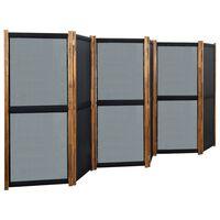vidaXL Kamerscherm met 6 panelen 420x170 cm zwart