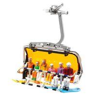 Jaegerndorfer - Fig. Zittend+snowboards 1:32 - Model Speelgoed