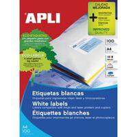 Apli witte etiketten ft 105 x 70 mm (b x h), 800 stuks, 8 per blad ...