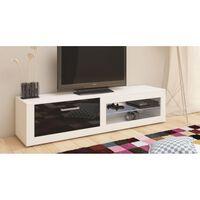 TV meubel dressoir Bornea body wit front hoogglans zwart