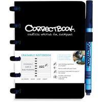 Correctbook A6 gelijnd uitwisbaar / herbruikbaar notitieboekje, zwart