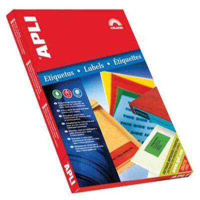 Apli Gekleurde etiketten ft 70 x 37 mm (b x h), blauw, 2.400 stuks,...
