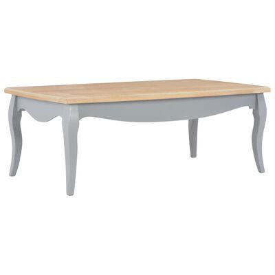vidaXL Salontafel 110x60x40 cm massief grenenhout grijs en bruin