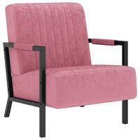vidaXL Fauteuil fluweel roze