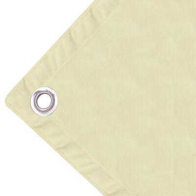 vidaXL Balkonscherm oxfordtextiel 90x600 cm crèmekleurig