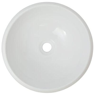 vidaXL 2-delige Badkamermeubelset keramiek wit