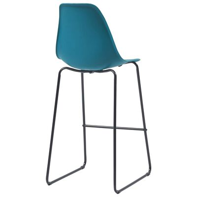 vidaXL 5-delige Barset kunststof turquoise