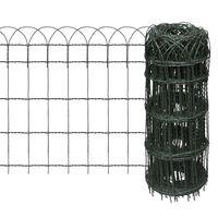 vidaXL Borderafscheiding 10x0,65 m gepoedercoat ijzer