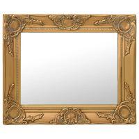 vidaXL Wandspiegel barok stijl 50x40 cm goudkleurig