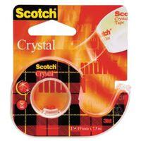 Scotch Plakband Crystal ft 19 mm x 7,5 m, blister met 1 afroller me...