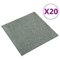 vidaXL Tapijttegels 20 st 5 m² 50x50 cm groen