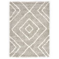 vidaXL Tapijt Berber shaggy hoogpolig 160x230 cm PP zandkleurig beige