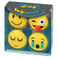 Moses gummen Emoticons 4 stuks 3 cm geel