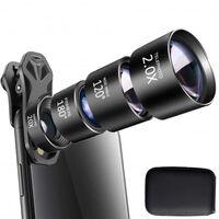 Mobiele lens 4-in-1 fisheye + groothoek + tele + macro