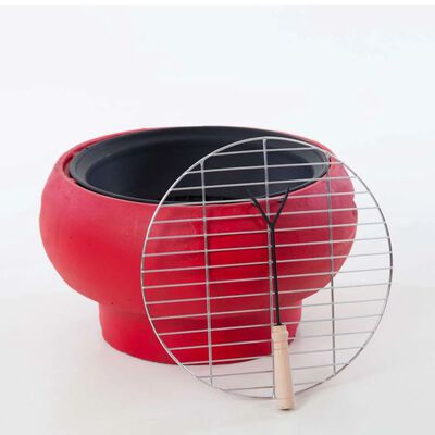 BBGRILL Draagbare barbecue rood BBQ TUB-R