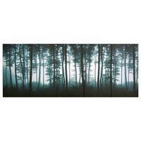 vidaXL Wandprintset bomen 150x60 cm canvas meerkleurig
