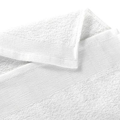 vidaXL Badhanddoeken 25 st 350 g/m² 100x150 cm katoen wit