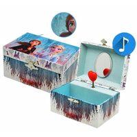 muziekdoos/sieradendoos Frozen II 15 cm blauw