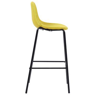 vidaXL 5-delige Barset stof geel