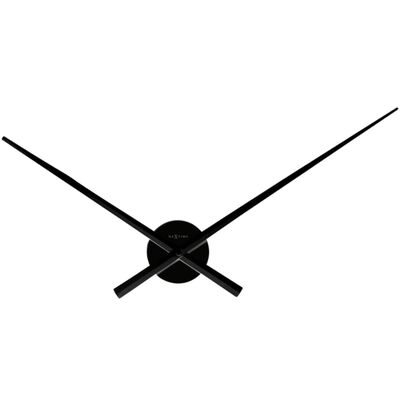 Wandklok NeXtime dia. 70 cm, zwart, 'Hands'